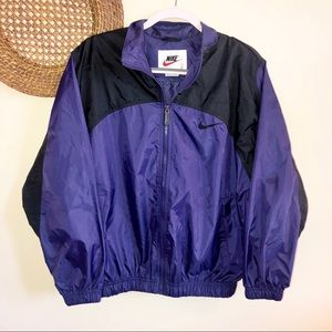 Rare Vintage Nike Purple &Black Windbreaker Jacket